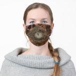 Steampunk Gears Clock Watch Face Mask