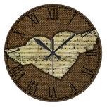 Steampunk Heart Wings Victorian Music Sheet Large Clock