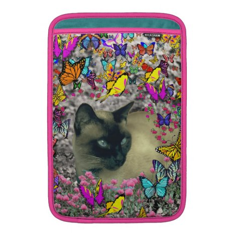 Stella in Butterflies Chocolate Point Siamese Cat MacBook Sleeve