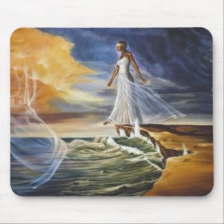 Stepping Out On Faith (for women) Mouse Mats