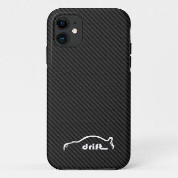 STI Impreza Drift  w/Faux Carbon FIber Background iPhone 11 Case