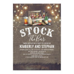 Stock The Bar Invitations Rustic Couples Shower