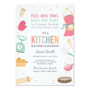 kitchen bridal shower hansgrohe talis s faucet invitations zazzle stock the invitation cooking