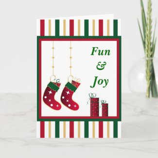 Stockings and gifts - Card card