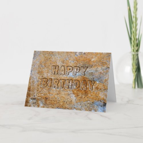 Stone Age Happy Birthday card