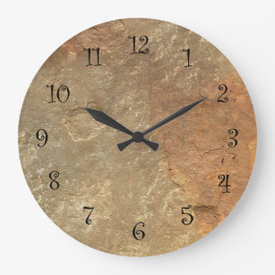 kitchen clocks pop up electrical outlet for wall zazzle stone look
