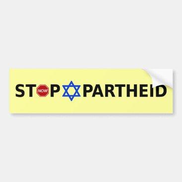 Stop Apartheid Bumper Sticker