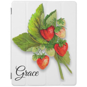 Strawberries Realistic Vintage Image iPad Smart Cover