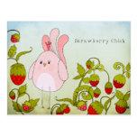 Cute Strawberry Chick Postcard