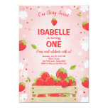 Strawberry First Birthday Invitation Summer Fruit