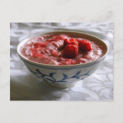 Strawberry Rhubarb Yogurt Postcard postcard