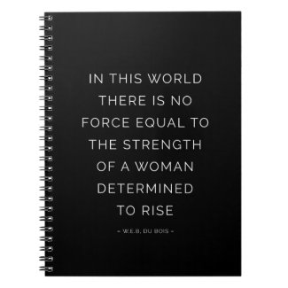 Strength Woman Inspirational Quote Notebook Black