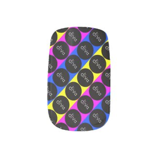 Stripes and Diva Polka-Dot Minx Nail Wraps
