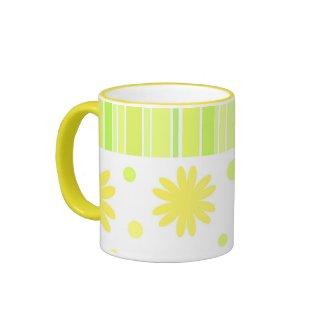 Stripes and flowers - Mug