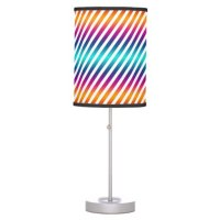 stripes colorful - make your own background table lamp ...