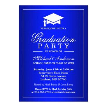 Stunning Royal Blue Gradient Graduate Graduation Card
