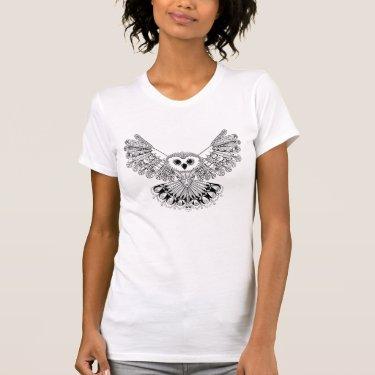 Style Black Owl T-Shirt