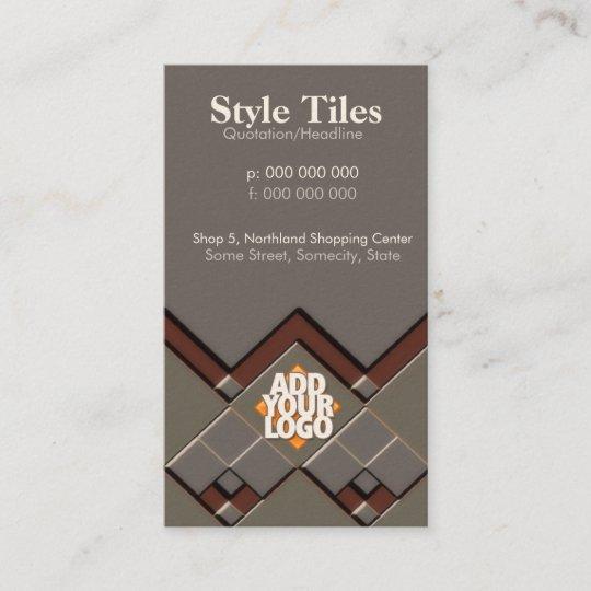 style tiles business card zazzle com