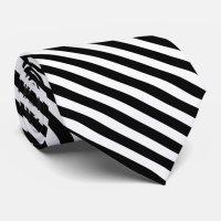 Stylish Black and White Striped Tie | Zazzle