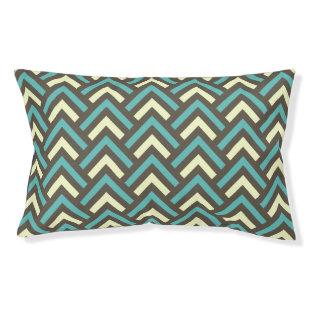 Stylish Geometric Triangles Retro Stripes Pattern Small Dog Bed