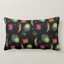 Stylish Retro Atomic Sphere Fabric Print Pillows