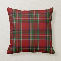 Stylish Royal Stewart Tartan Plaid Pillow Throw Pillow