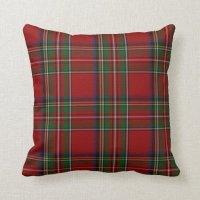 Stylish Royal Stewart Tartan Plaid Pillow Throw Pillow ...