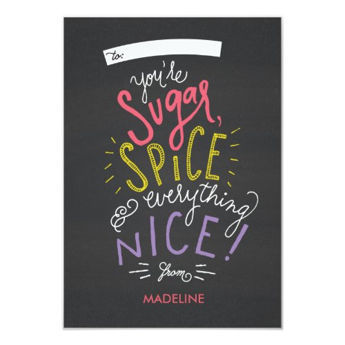 Sugar and Spice Valentine's Card