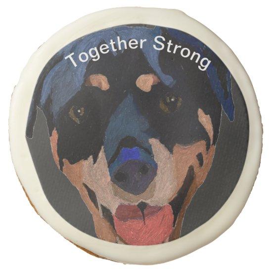 Sugar Cookie Rottweiler Strong Confident Hopeful
