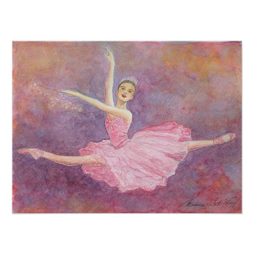 Sugar Plum Fairy Ballet Art Print Zazzle