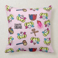 Harley Quinn Pillows - Decorative & Throw Pillows | Zazzle