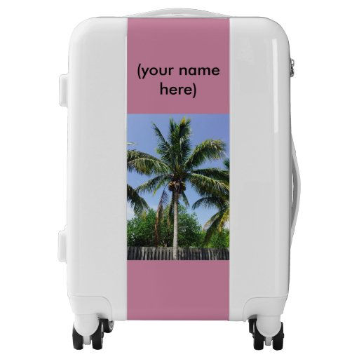 Suitcase with Coconut Tree