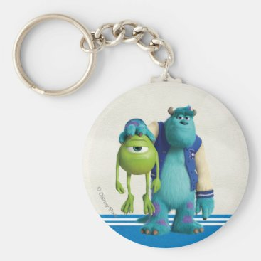 Sulley Holding Mike Keychain