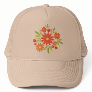Summer flowers mesh hats