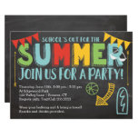 ❤️ Summer Party Invitation-School's Out Invitation