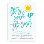 ❤️ Summer Sun Beach Party Invitation