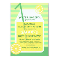 Summertime Lemonade Party Invitation