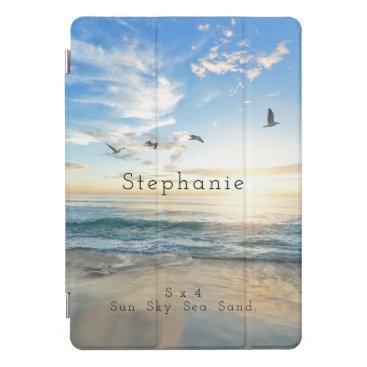 Sun. Sky. Sea. Sand. Beach Scene iPad Pro Cover
