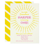 Sunburst Sunshine Birthday Party Invitation
