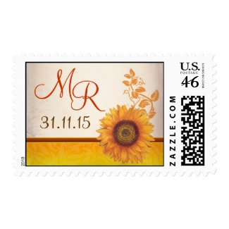 sunflower beautiful postage stamp