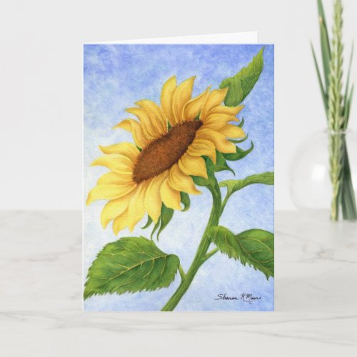 Sunflower Blank - Note Card