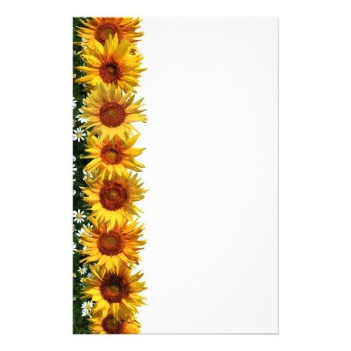 sunflower border stationery zazzle