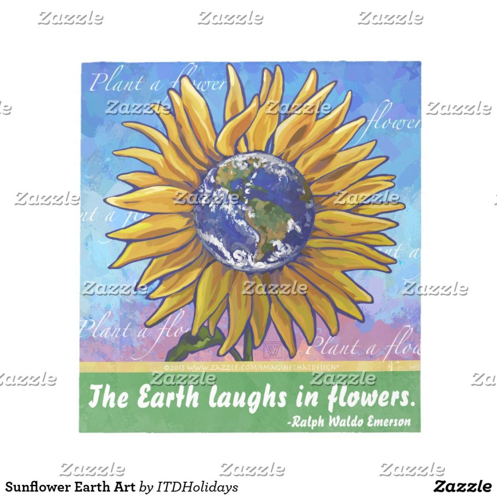 Sunflower Earth Art Notepad