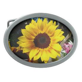 Sunflower & Friends Bouquet - Belt Buckle