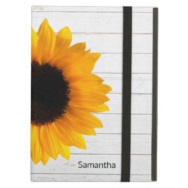 Sunflower on Wood iPad Air Case