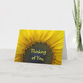 Sunflower Print Thinking of you Card card
