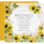 Sunflower Pumpkin Autumn Fall 50th Birthday Invitation