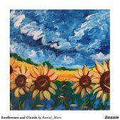 Sunflowers and Clouds Acrylic Print