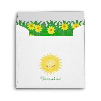 Sunny Day With Flowers Envelope envelope