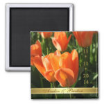Sunny Orange Tulips Save The Date Magnet